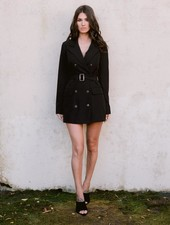 Blazer Black Belted Jacket
