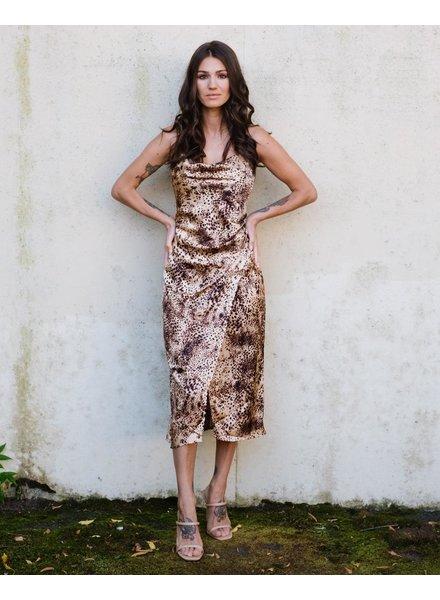 Midi Cheetah Slip Dress