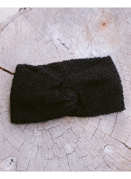 Headwrap Black Boucle Headwrap