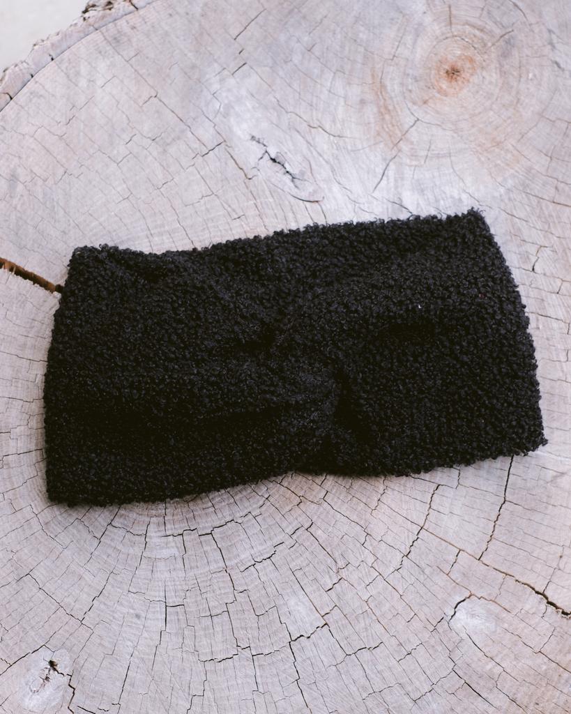 Headwrap Black Boucle Headwrap