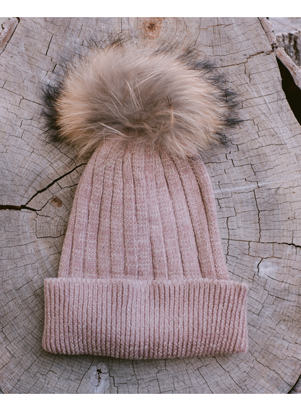Winter Mocha Pom Hat