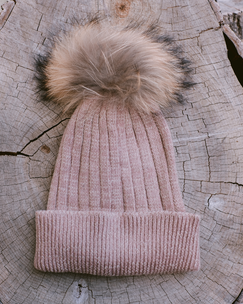 Winter Mocha Pom Hat
