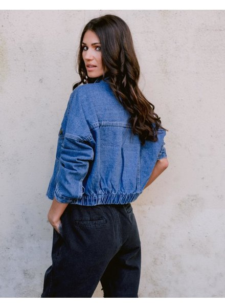 Jeans Vintage Crop Demin Jacket