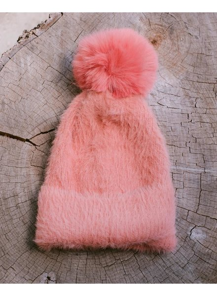 Winter Bubblegum Pom Hat