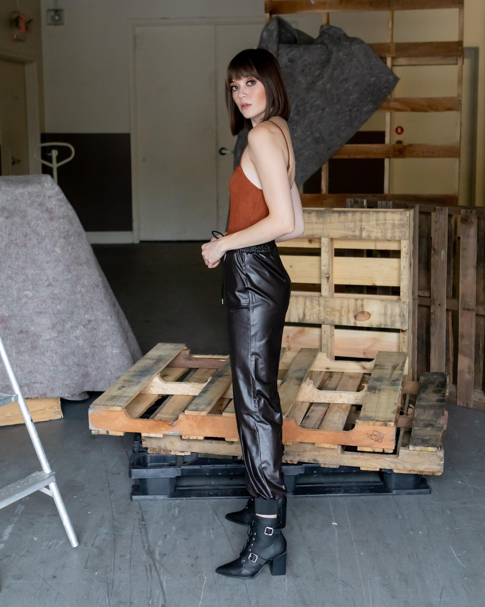 Bodysuit Rust Corduroy Bodysuit