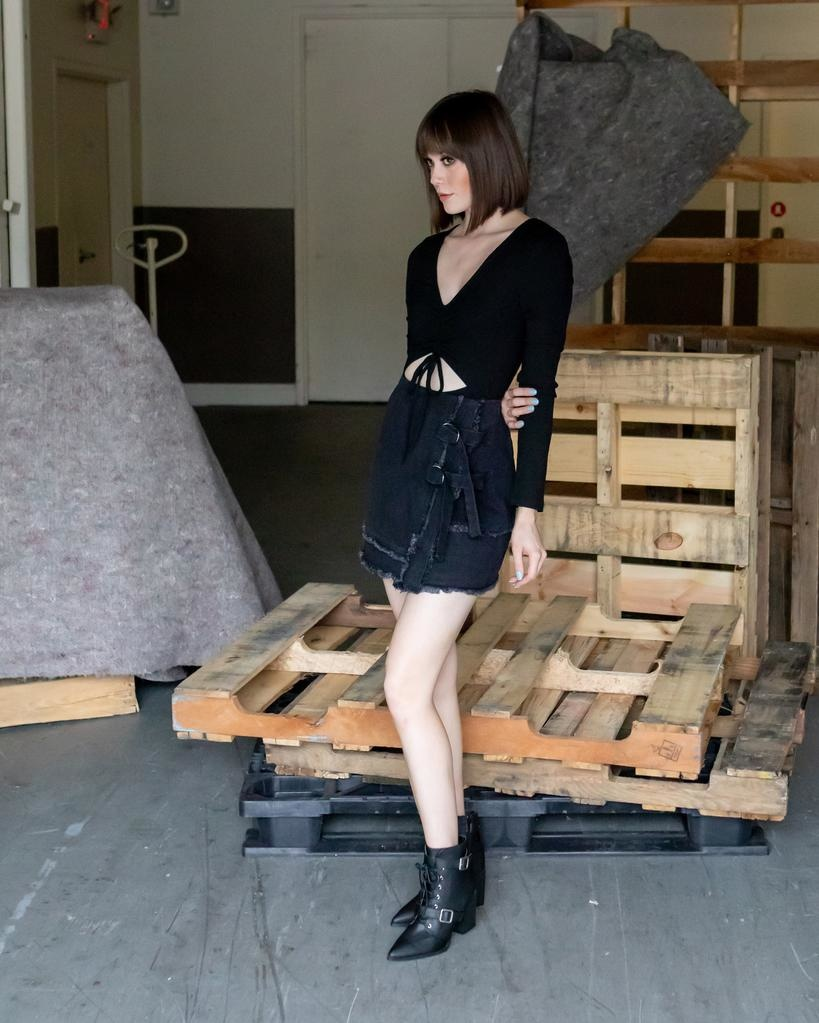 Skirt Double Buckle Mini