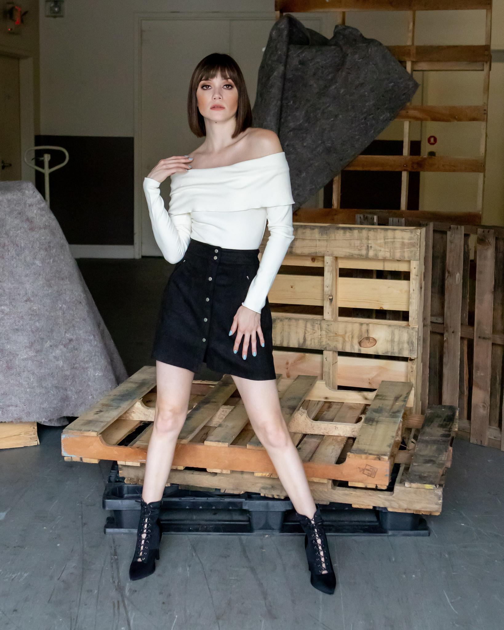 Skirt Suede Moto Skirt