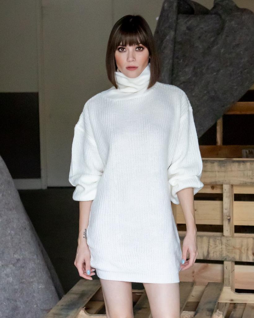 Sweater Snow White Sweater Dress