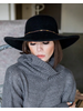 Hat Black Floppy Brim Hat