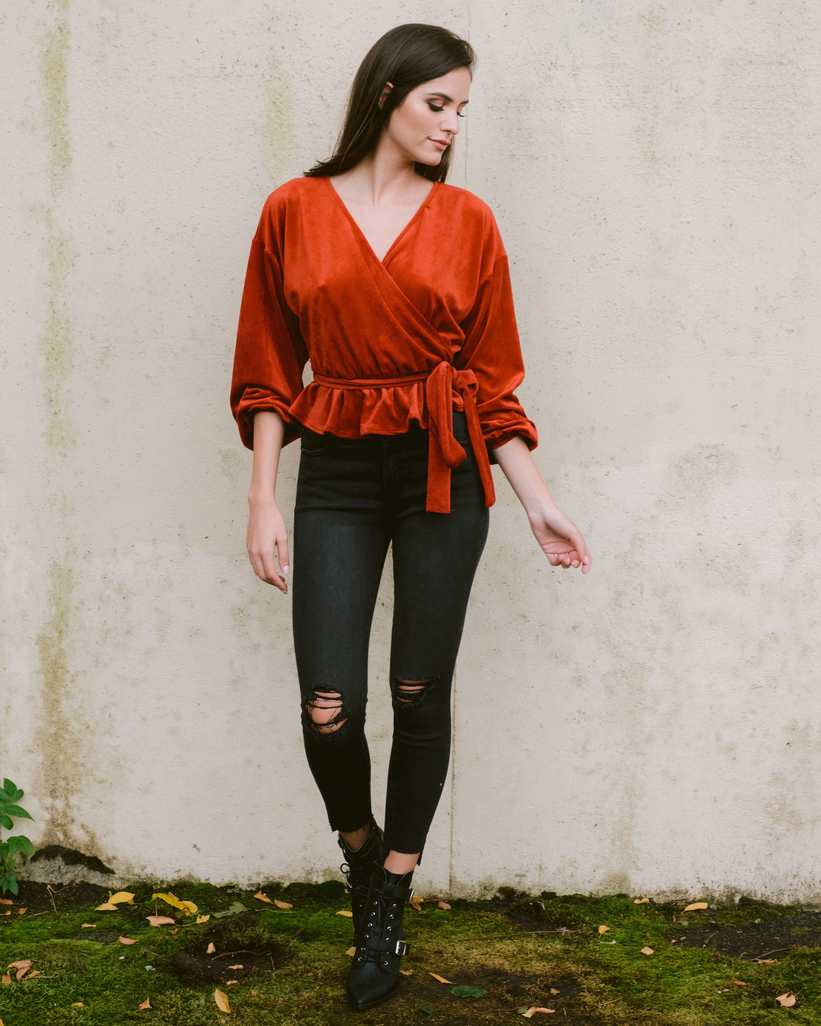Blouse Rust Cord Blouse
