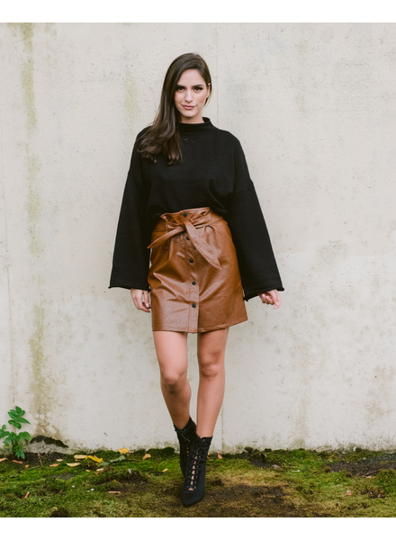 Skirt Always On Point Leather Mini