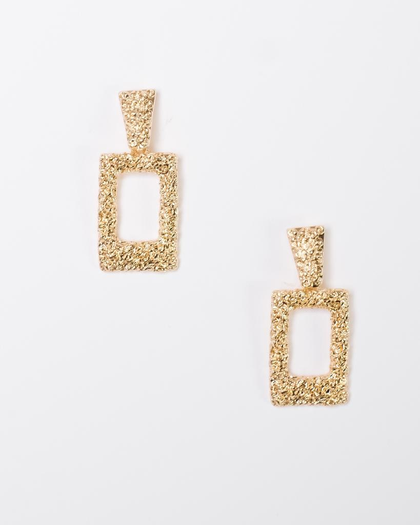 Silver Textured Rectangle Drops