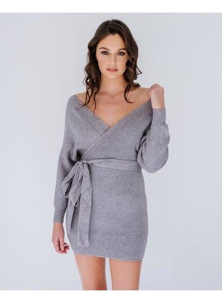 Mini Grey Knit Mini