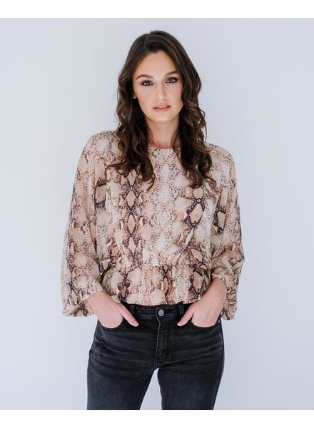Blouse Snake Sheer Blouse