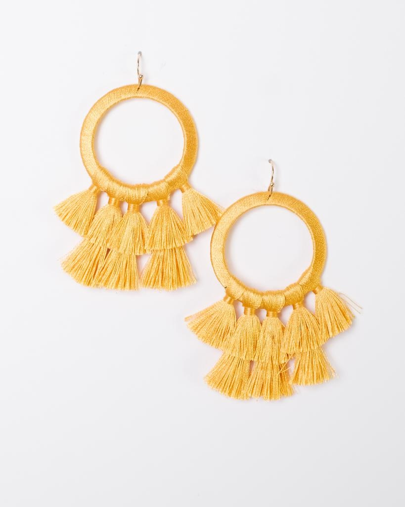 Trend Tassel Fan Earrings