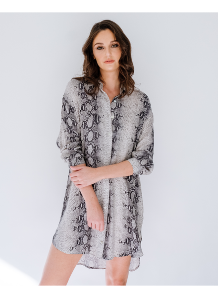 Casual Python Shirt Dress