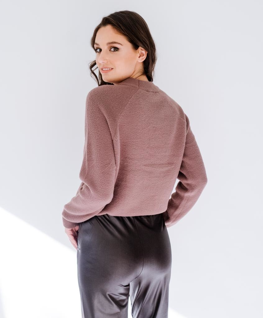 Knit Cocoa Crewneck Sweater