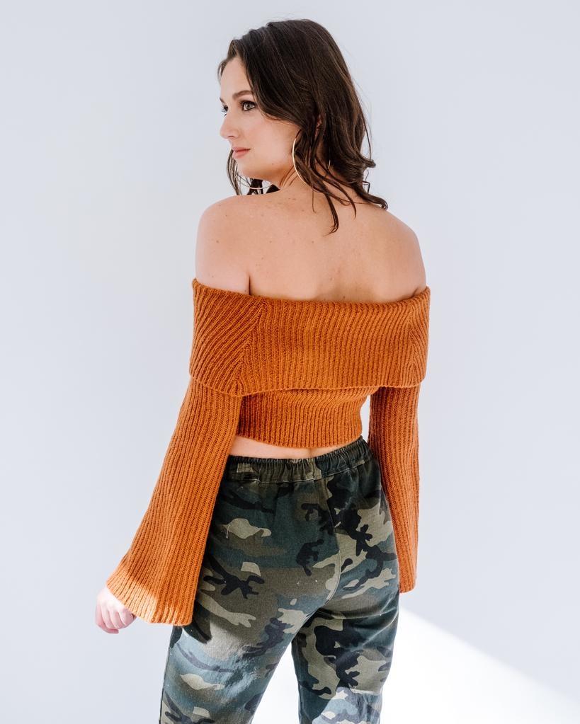 Knit Foldover Cropped Knit