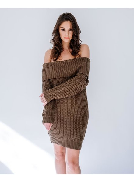 Mini Foldover Favorite Knit Dress