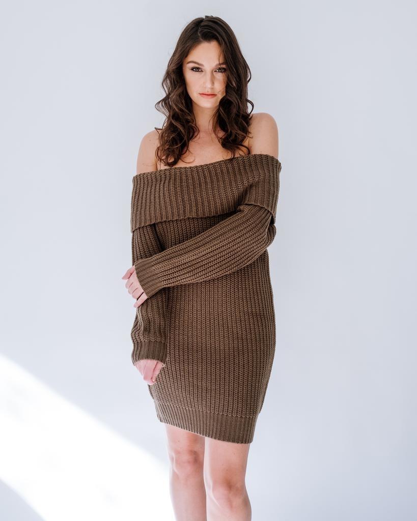 Mini Foldover Favorite Knit Dress