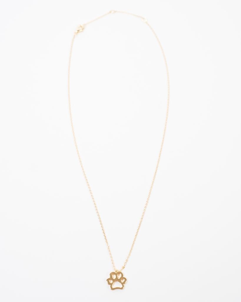 Gold Paw Print Necklace
