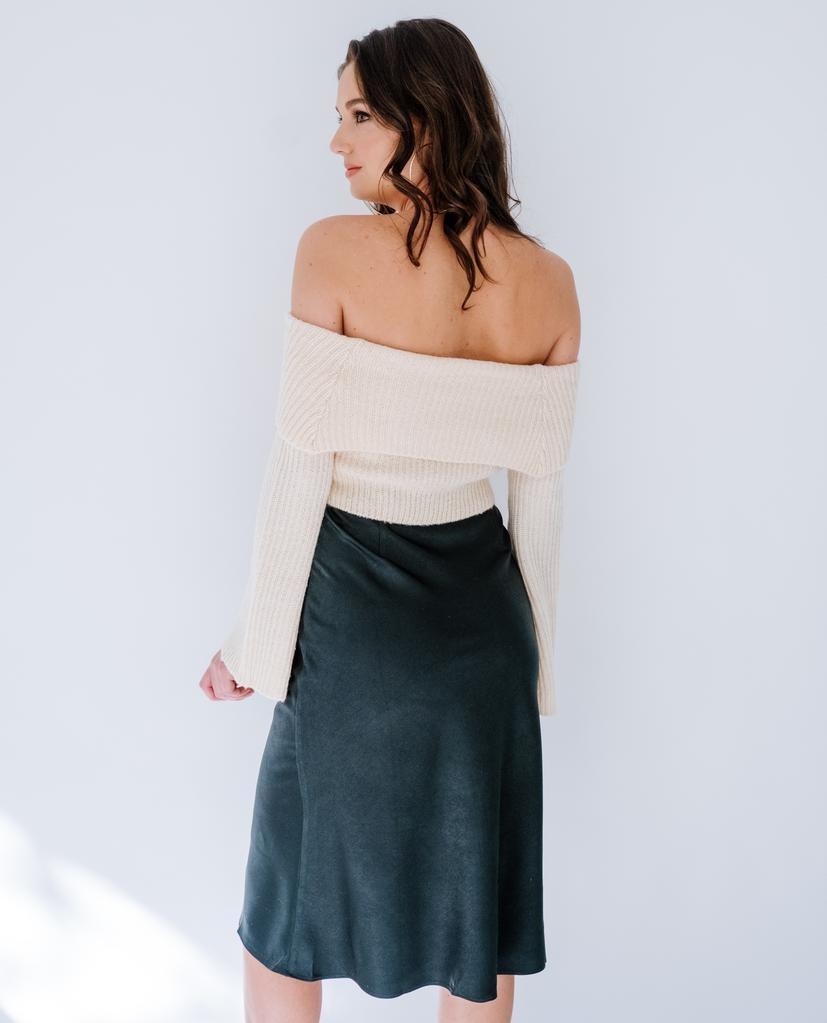 Skirt Hunter Green Midi Skirt