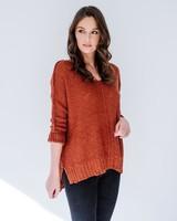Sweater Rust Loose Knit