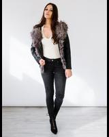 Winter Fur Collar Leather Jacket
