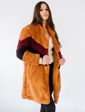 Winter Colorblock Teddy Jacket