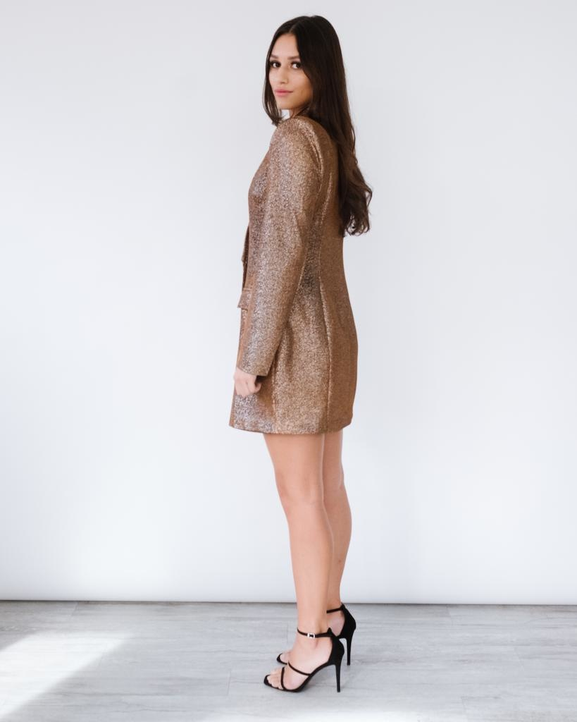 Mini All That Glitters Blazer Dress