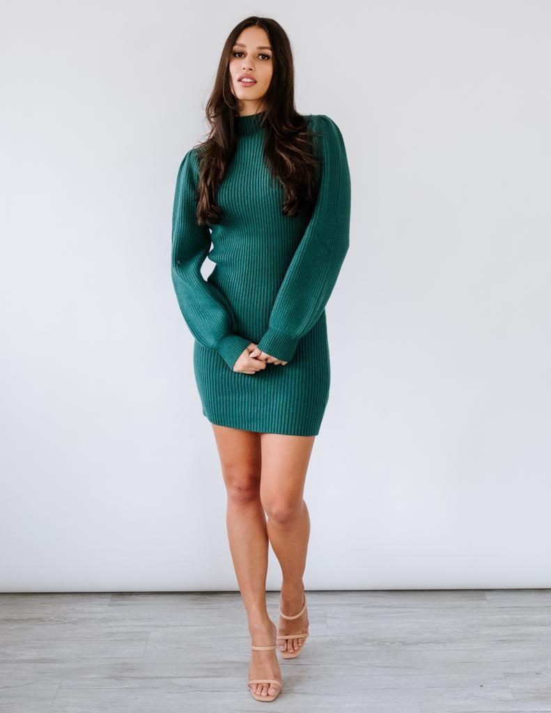 Sweater Kiss Me Under The Mistletoe Dress