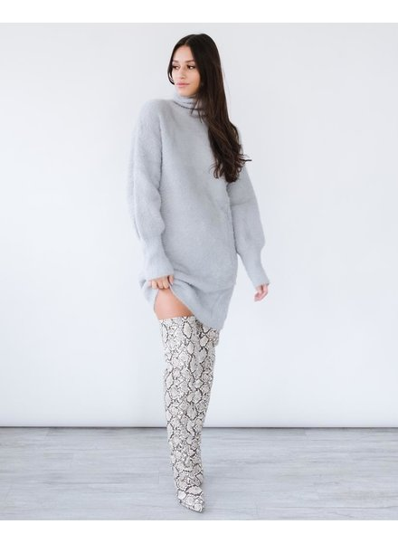Sweater Fuzzy Sweater Dress