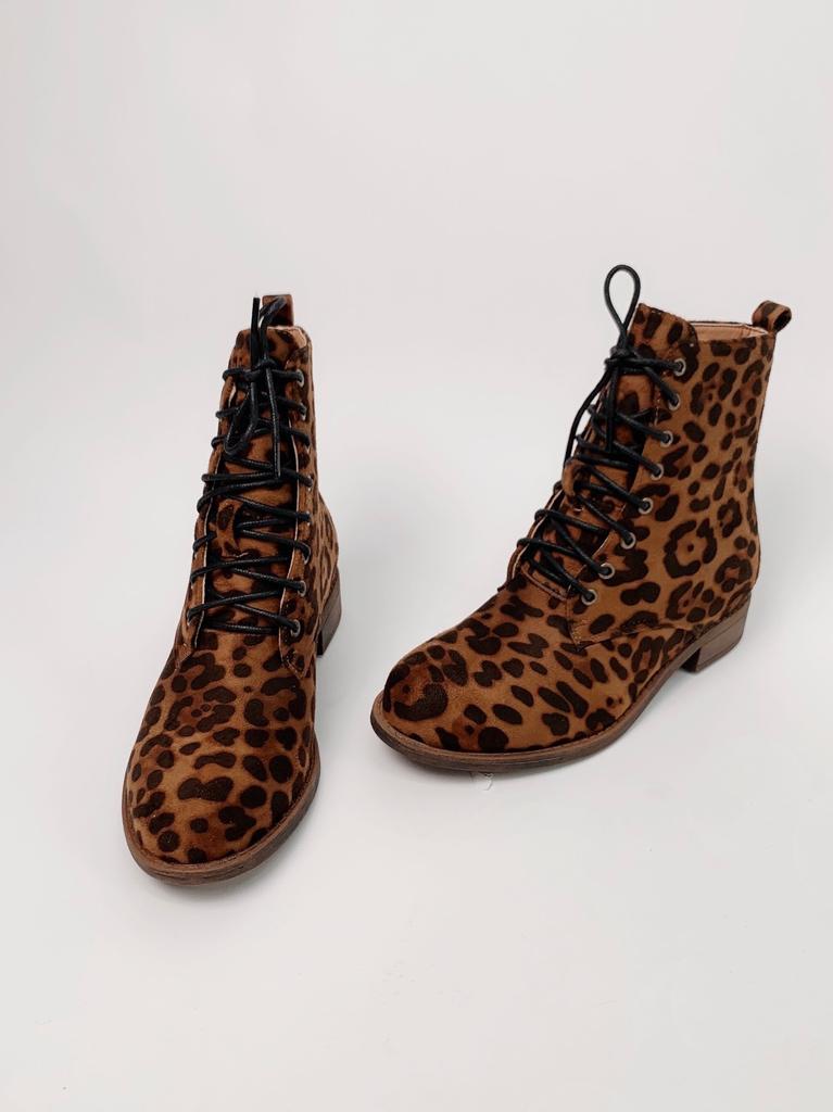Bootie Leopard Combat Boot