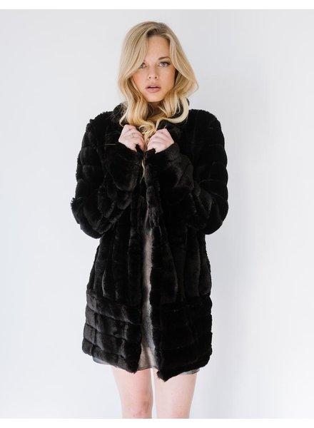 Winter Black Furry Jacket