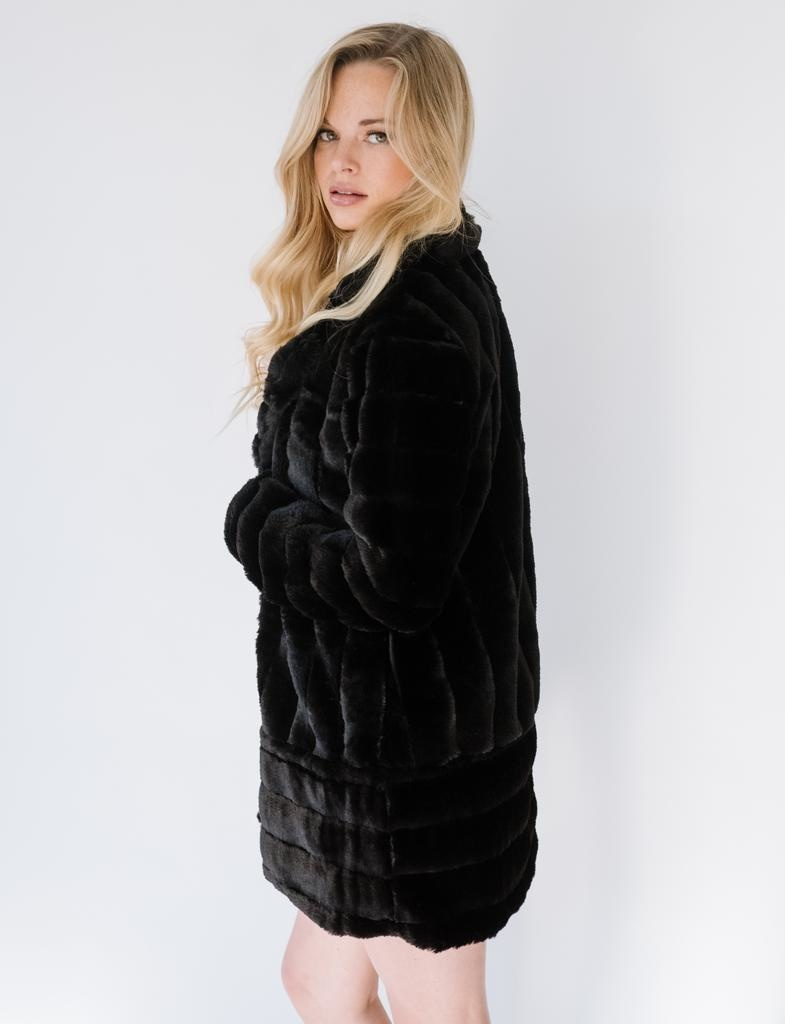 Winter Black Furry Jacket