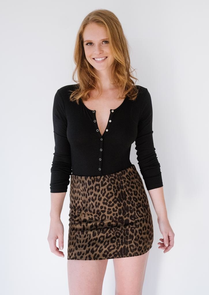 Skirt Leopard Mini Skirt