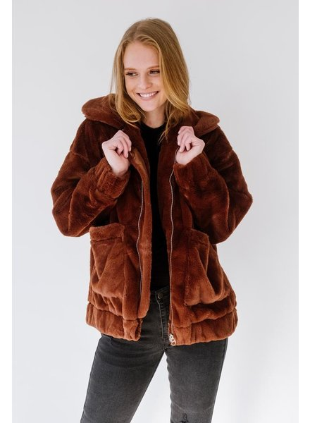 Winter Cup Of Cocoa Furry Jacket