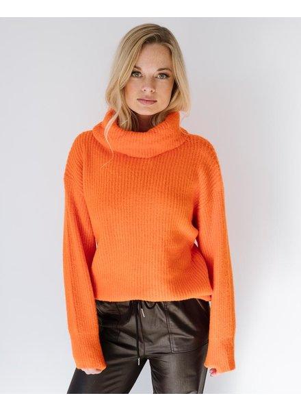 Sweater Orange Turtleneck Sweater