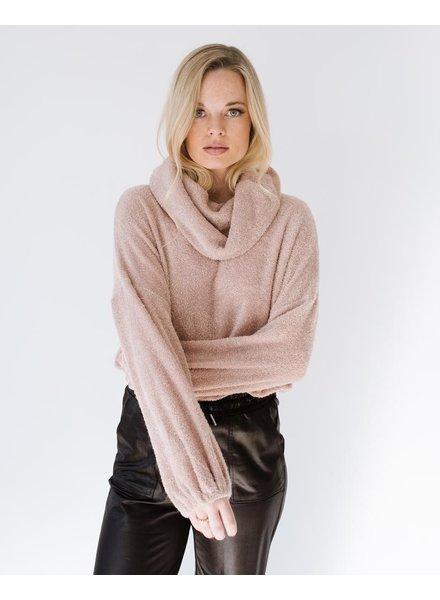 Sweatshirt Taupe Cowlneck Sweatshirt