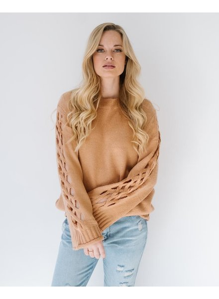 Sweater Sleeve Cutout Sweater