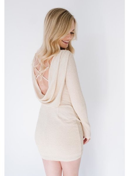 Mini Champagne Drape Back Mini