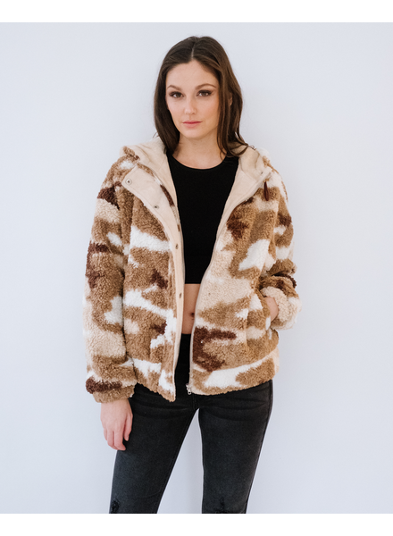 Winter Camo Bear Bomber