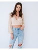 Crop Iridescent Sequin Top