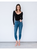 Jeans Distressed Hem Skinny Jean