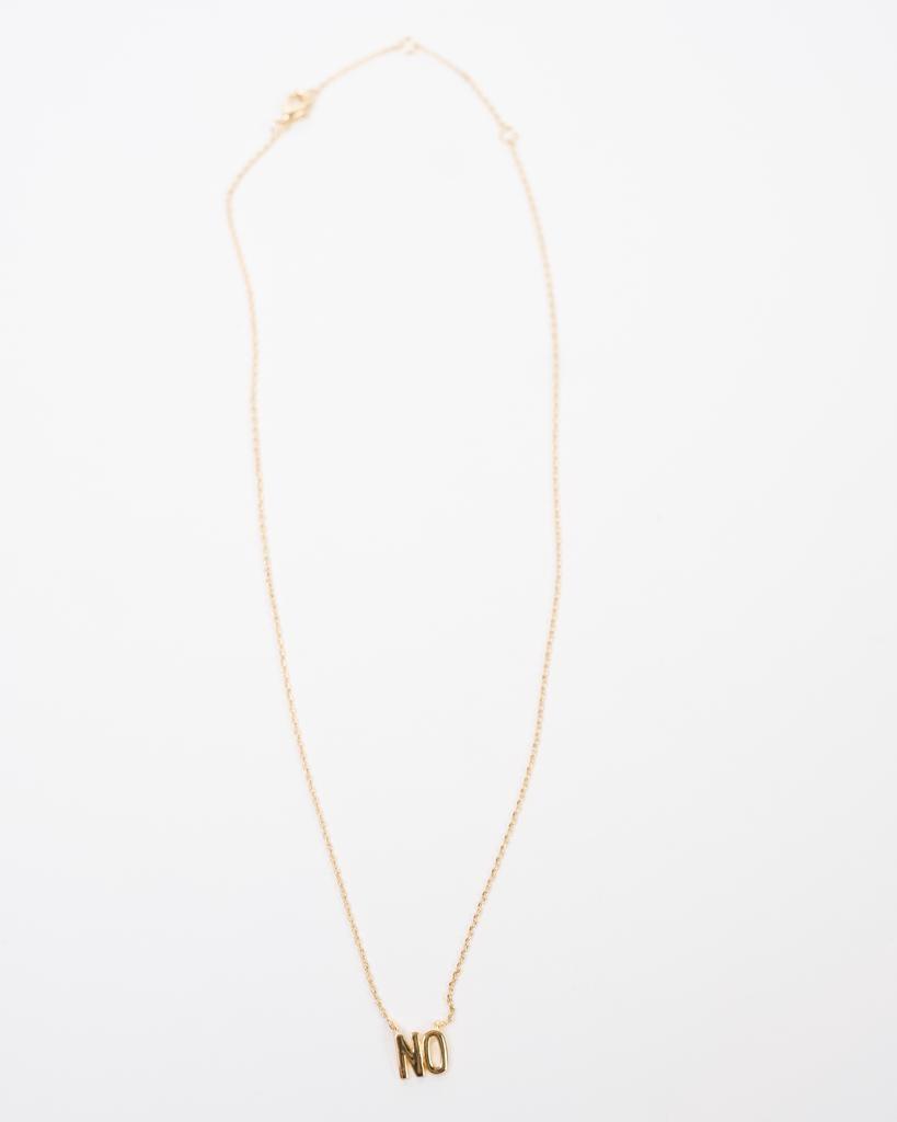 Gold NO Pendant Necklace