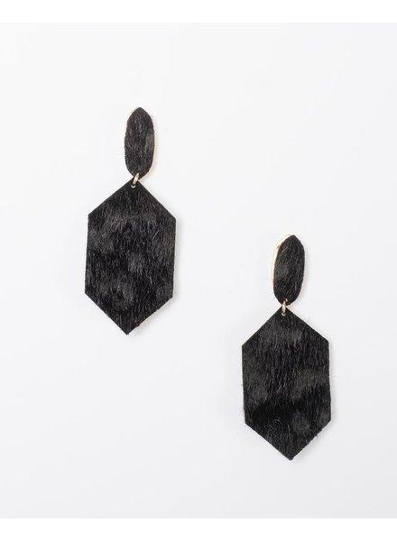Trend Vegan Hide Print Drop Earrings