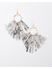 Trend Snake Print Fan Earrings