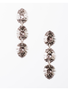 Trend Bejeweled pewter drop down earring