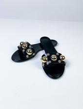 Sandal Black Stud Jelly