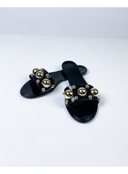 Sandal Black Stud Jelly